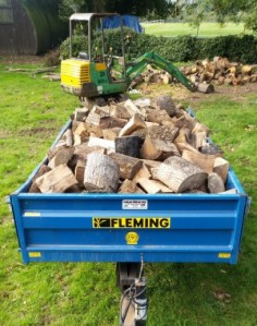 Firewood delivery for a local customer.