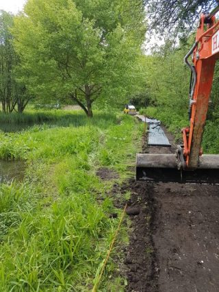 Installing new access tracks on a nature reserve.