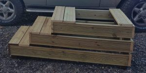 Timber mounting block made to customer's specification.