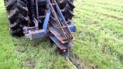 Mole ploughing equine paddocks to improve drainage and reduce compaction.