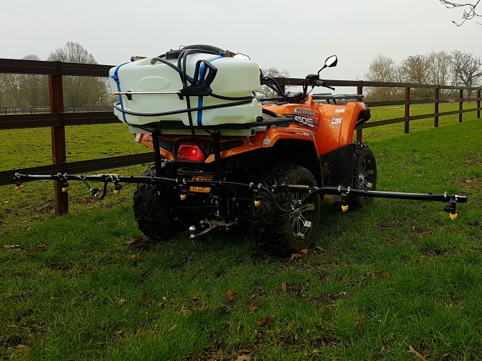 450cc 4WD Quad Bike and 90 litre / 3 metre sprayer