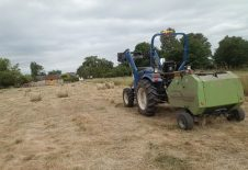 Small round baler and 40hp Compact Tractor.
