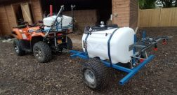 450cc 4WD Quad Bike and 225 litre / 4m towed herbicide sprayer